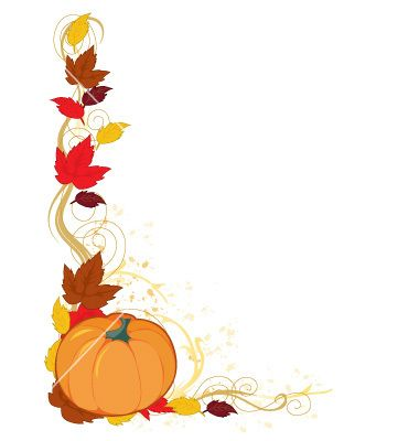 pumpkin autumn border vector 106854 by mkoudis on vectorstock rh pinterest ca fall harvest border clipart fall border clip art free