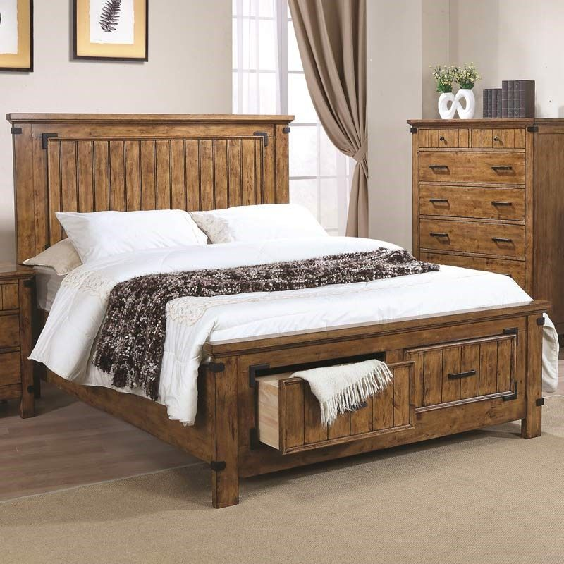 Brenner Full Footboard Storage Bed Bed Coaster Furniture White Bathroom Furniture