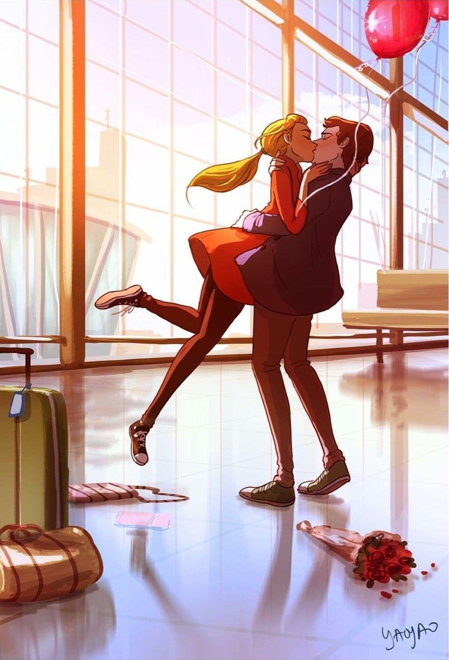 #illustration #couple #character #characterdesign #digitalart #cute #boyfriend #girlfriend