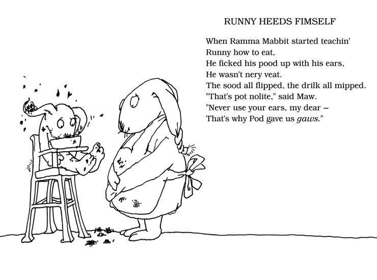 The Voice Shel Silverstien: Shel Silverstein - Runny Heeds Fimself (740×550)