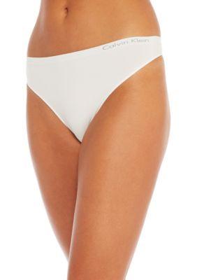 77bfc39e92f430 Calvin Klein Women's Pure Seamless Thong - Qd3544 - White - Xl