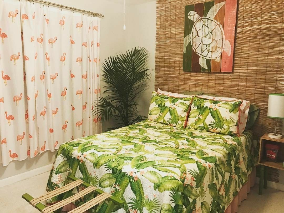 Redecorated my guest room with a tropical Florida theme. Complete ...