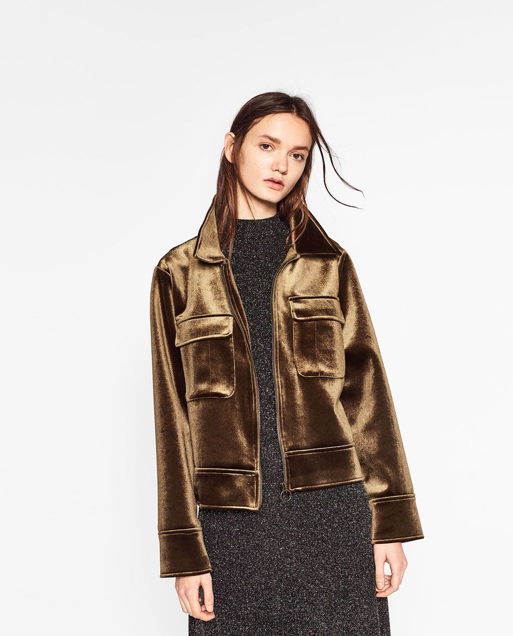 VELVET JACKET WITH POCKETS-Jackets-OUTERWEAR-WOMAN | ZARA United States