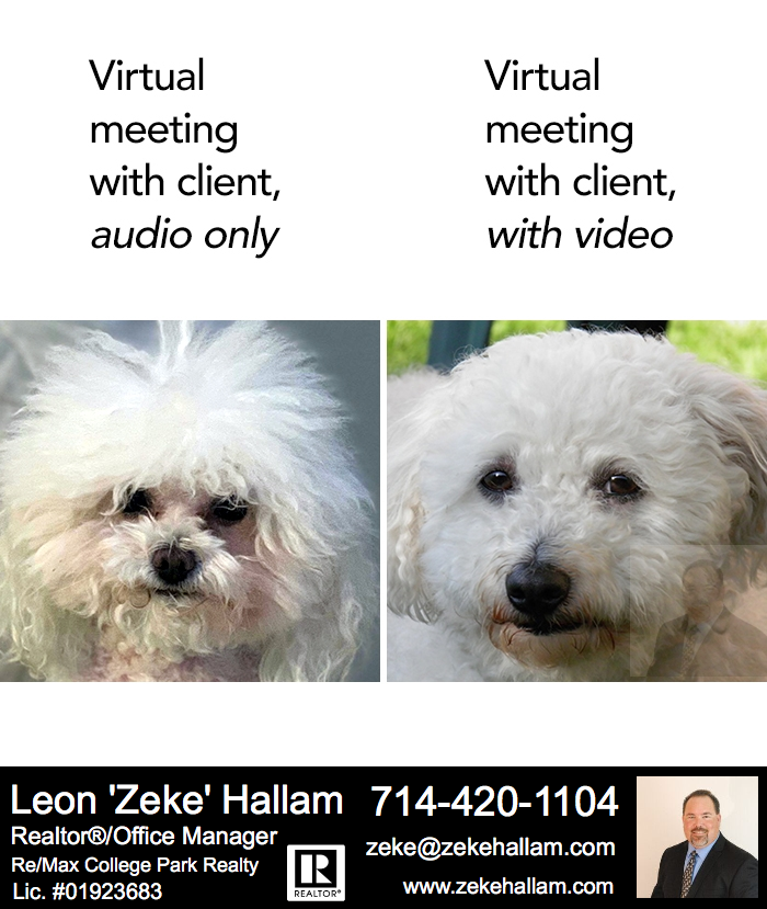 This for all of you who have done Zoom meetings!!! HAHA