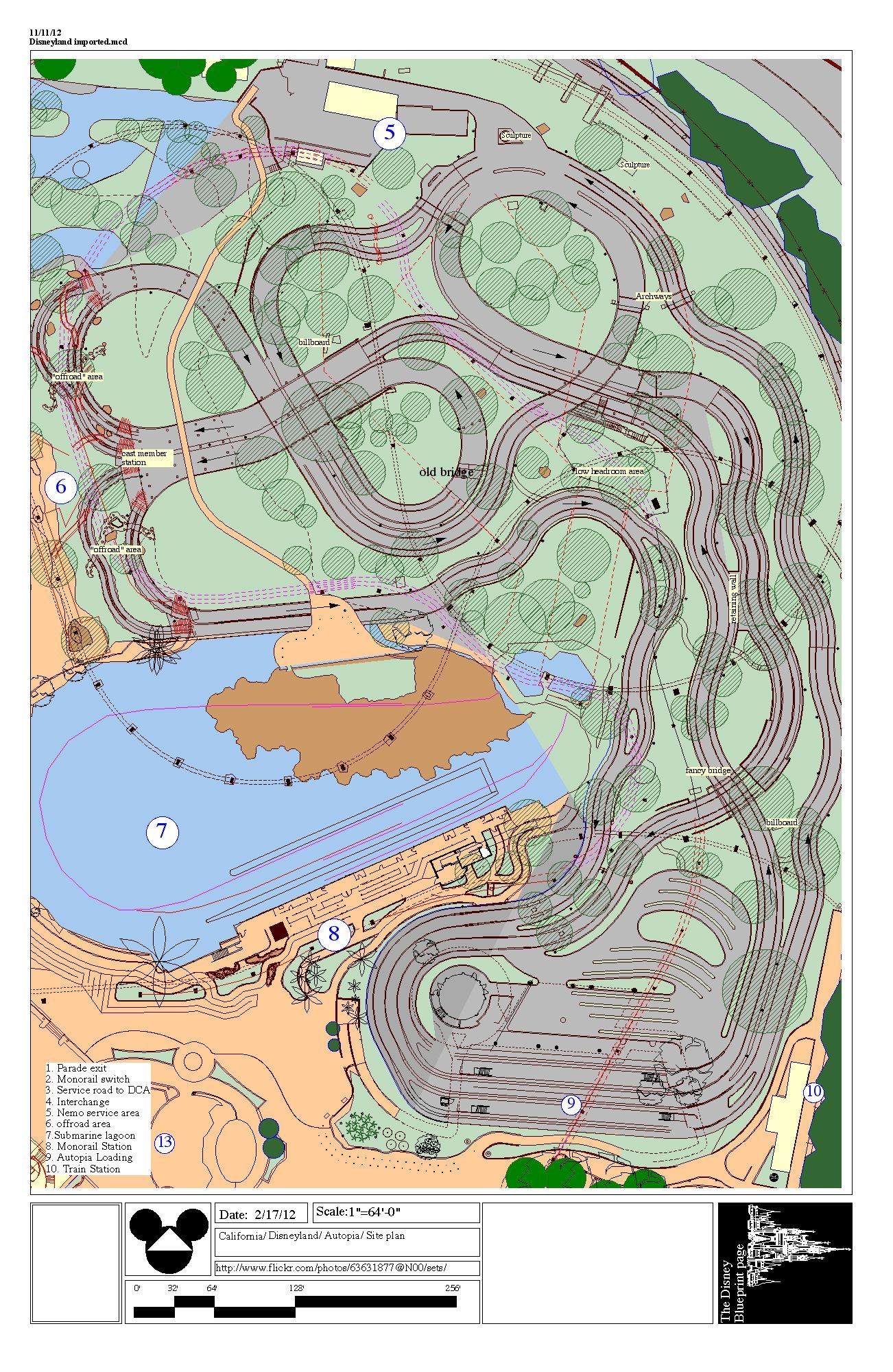 Map Of California Disney.Disneyland Autopia Layout Google Search Disneyland Disneyland