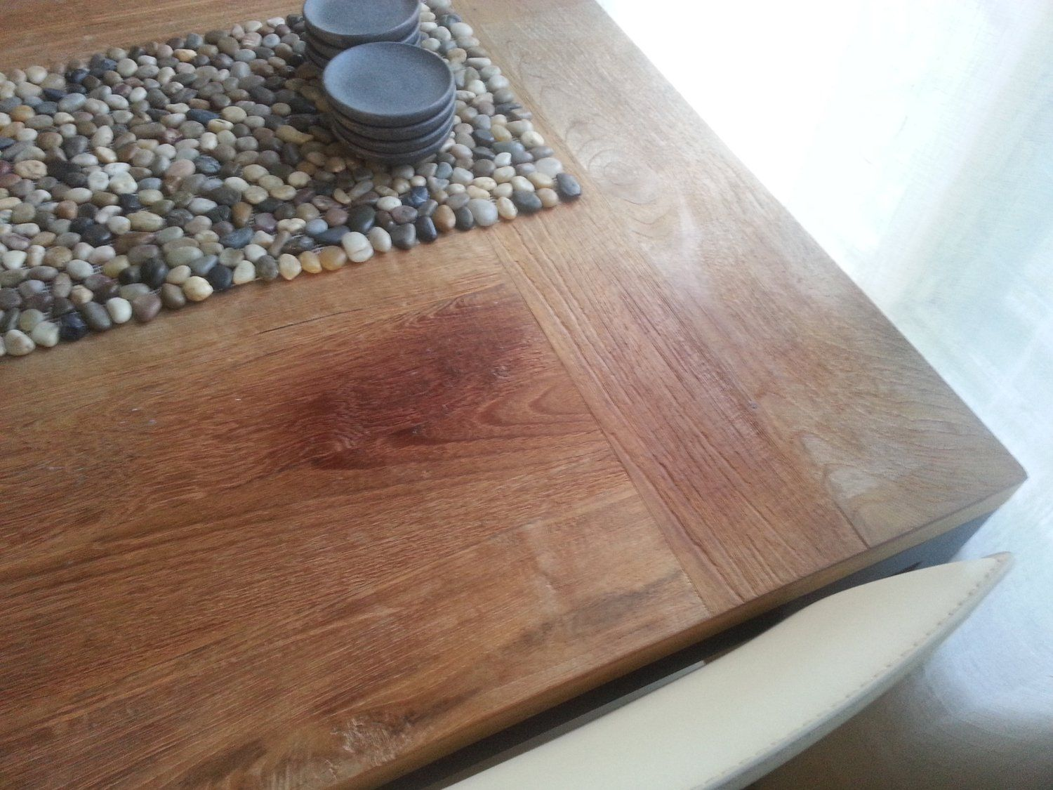 Fix For Natural Teak Tabletop Discolored By Furniture Polish Diy Furniture Teak Diy Furniture Ikea