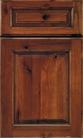 My Cabinets Schrock  Chanley  Rustic Alder  Auburn
