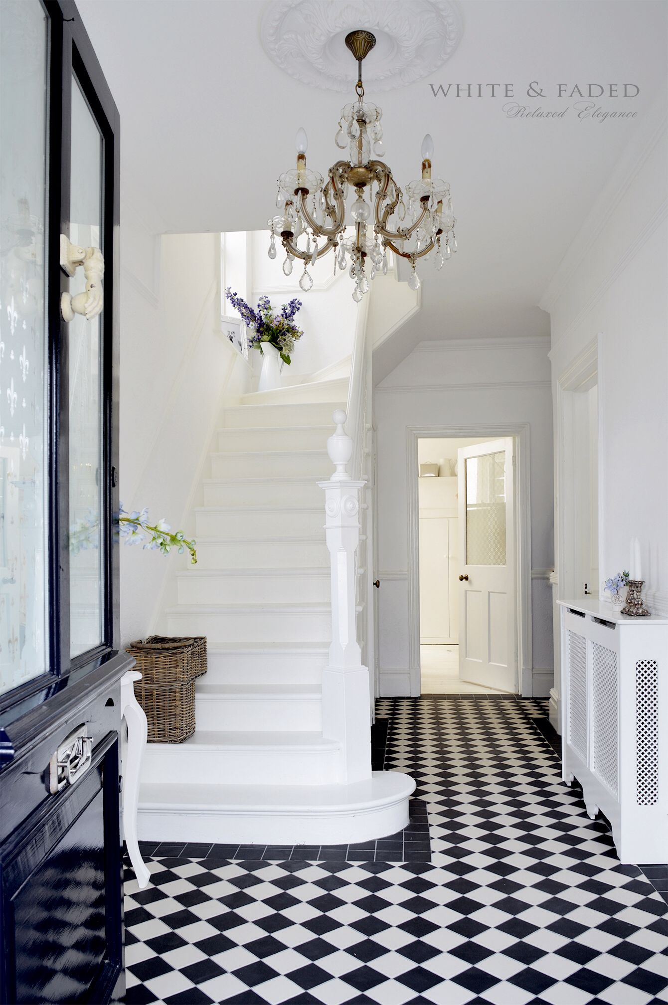 victorian black and white tiles | hal | pinterest | white tiles