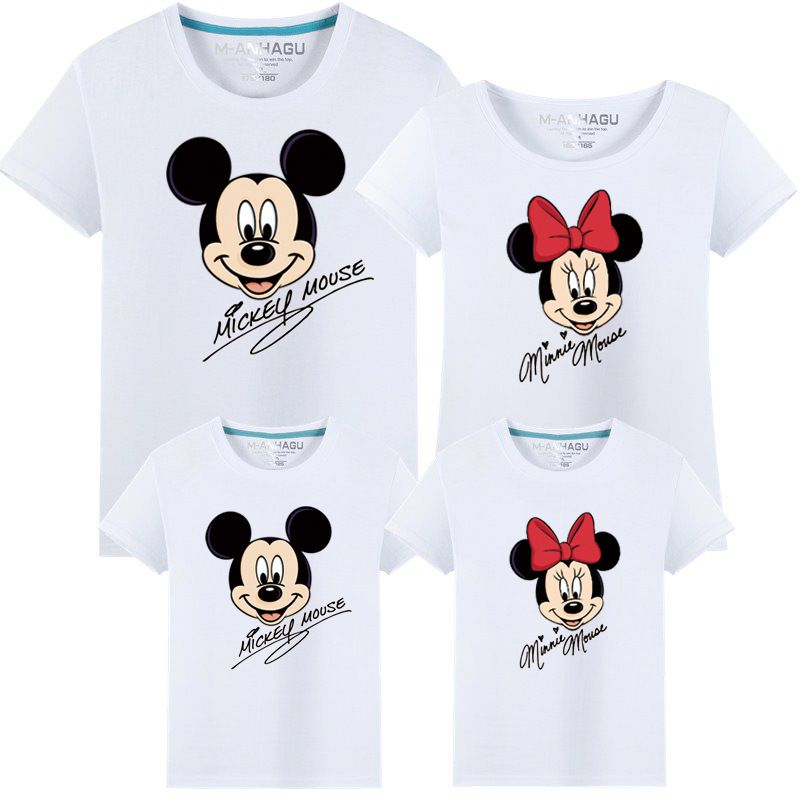 Love Minnie and Micky Mom and Son Matching Family T-Shirts Set