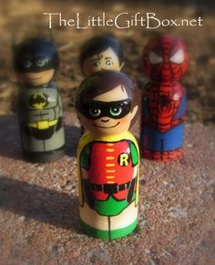 superhero peg doll