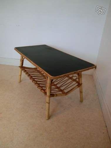table basse de salon rotin vintage ameublement loire atlantique 70 maison. Black Bedroom Furniture Sets. Home Design Ideas