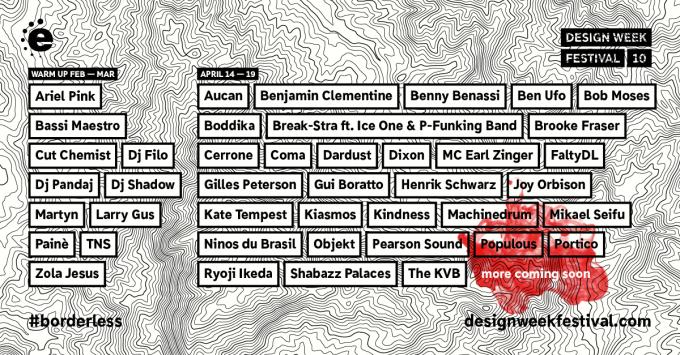 Una nuova infornata di artisti arricchisce il programma del Design Week Festival 10, a Milano dal 14 al 19 aprile. Dopo le prime cartucce sparate con nomi del calibro di Machinedrum, Kate Tempest, Shabazz Palaces... →