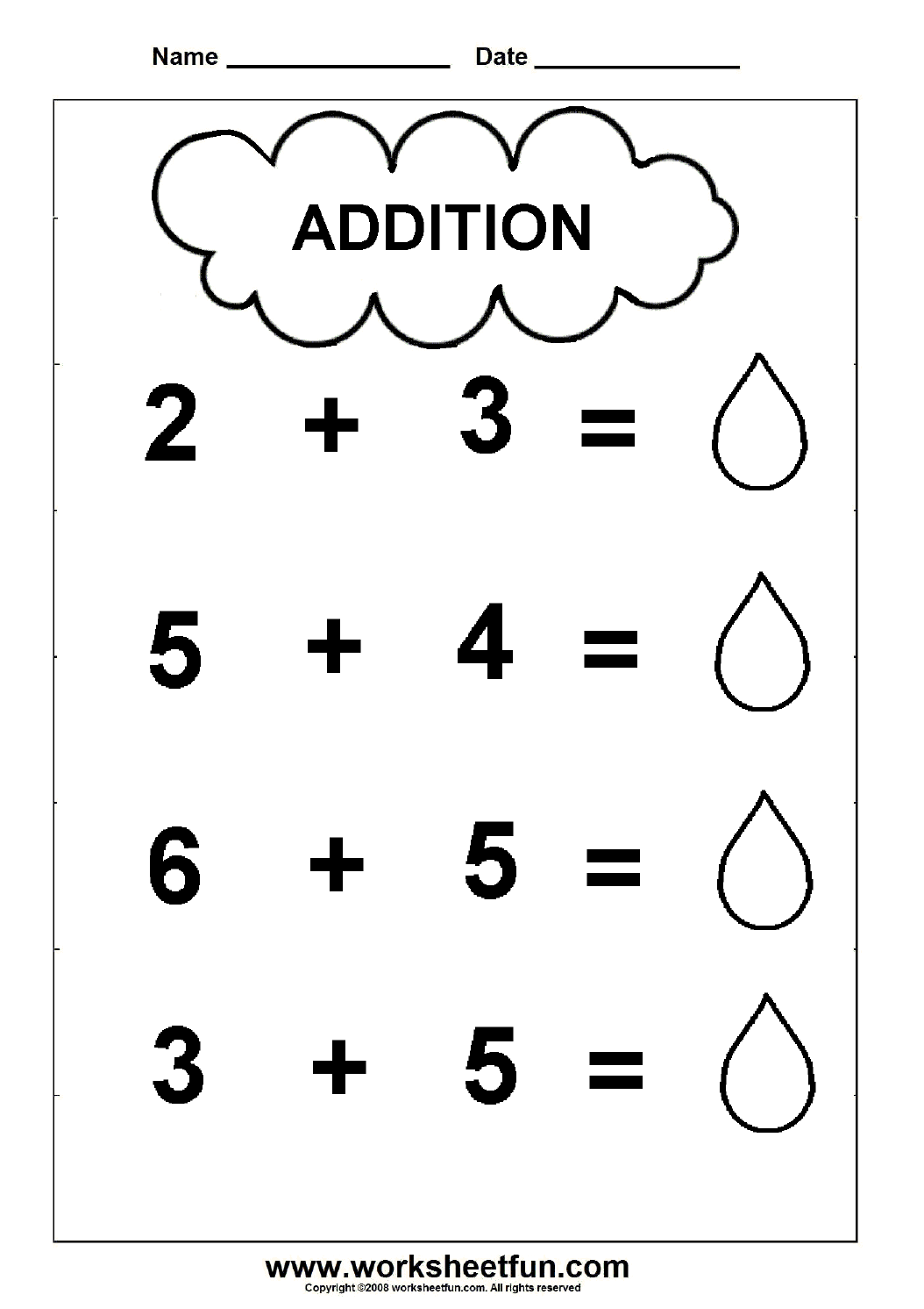 Addition 2 Worksheets Kindergarten Worksheets – Simple Math Worksheets Printable