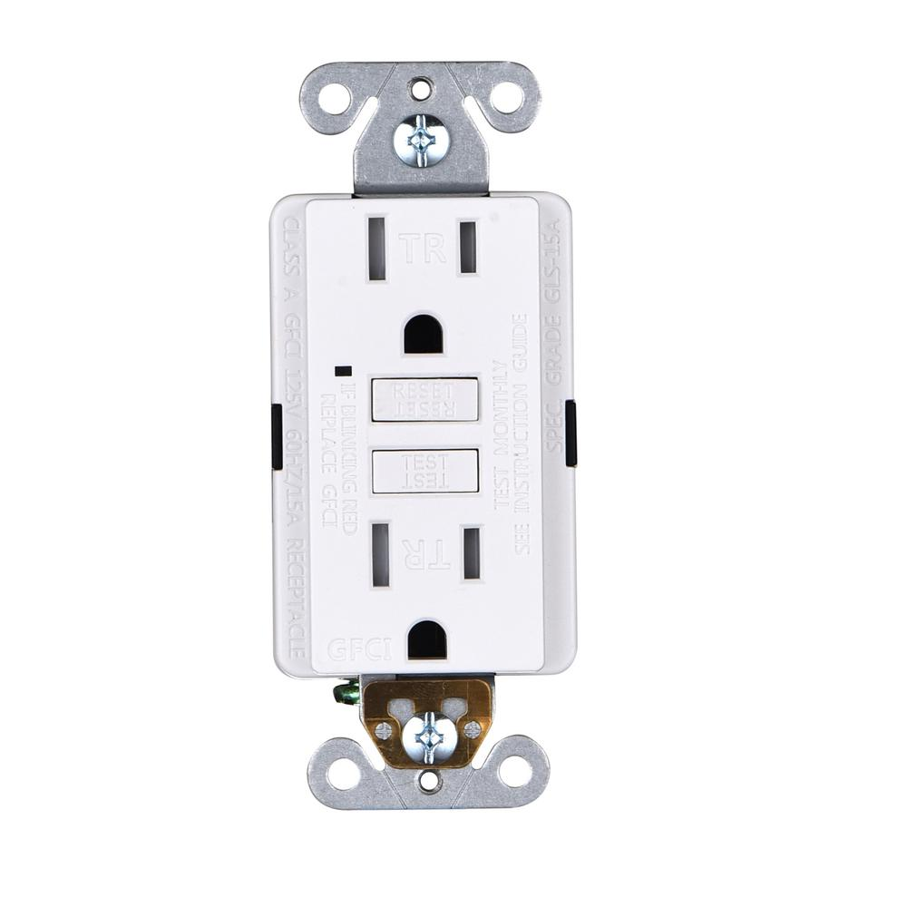 Faith 15 Amp 125 Volt Gfci Duplex Tamper Resistant Outlet Gfi Receptacle With Indicator Light And Wall Plate White 10 P Gfci Plates On Wall Indicator Lights