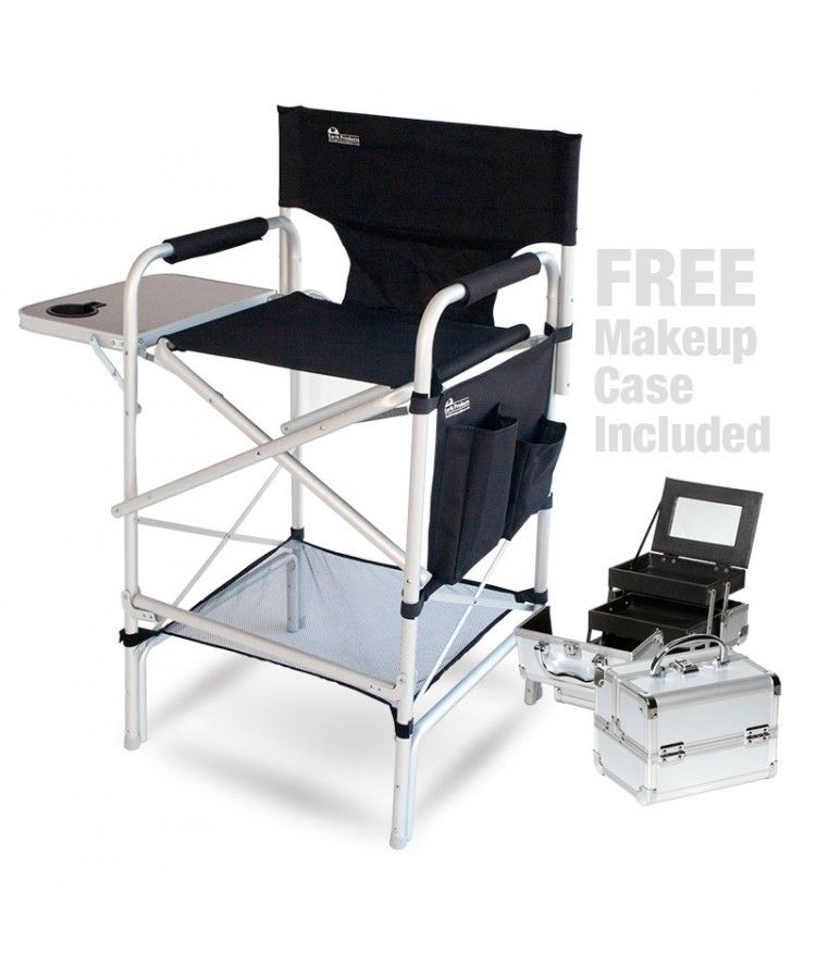 pro makeup artist chair case combo w side table free value face painting tips. Black Bedroom Furniture Sets. Home Design Ideas