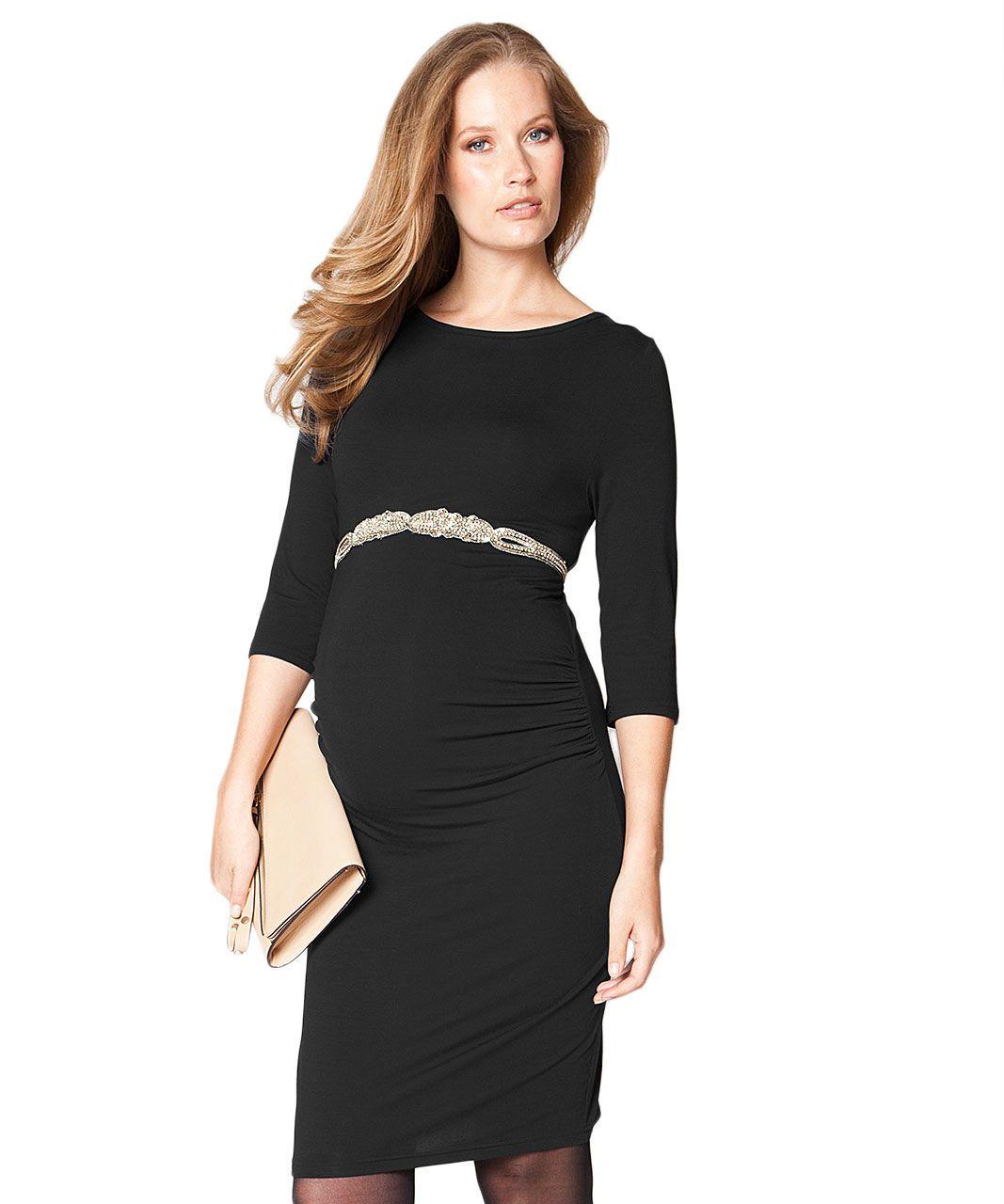 Seraphine Tessa Maternity Shift Dress – Black Tessa – Abito Tubino Premaman  - Nero Family Nation 012895f533c