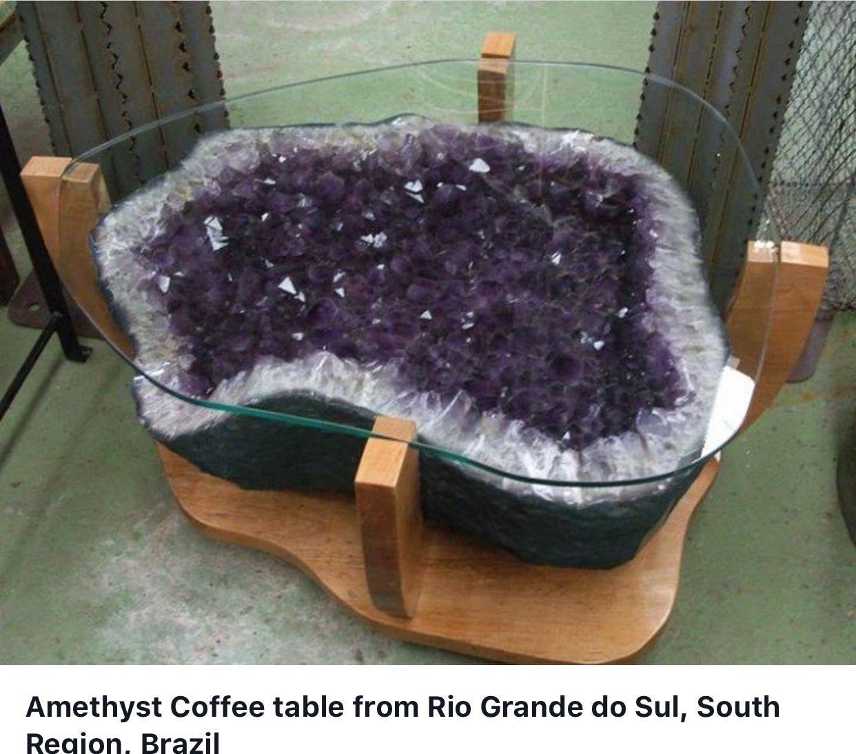 Amethyst geode coffee table What a Gem Pinterest Amethyst