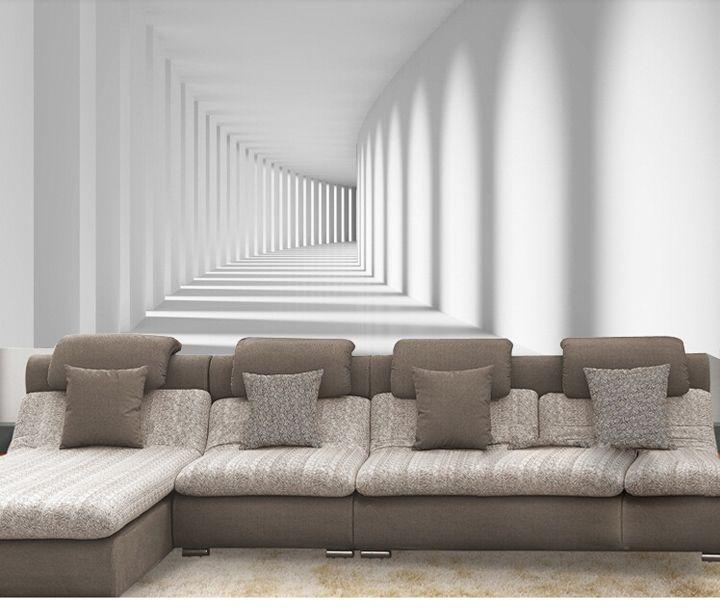 Barato percorreram do passeio 3d moderno papel de parede - Papel de pared barato ...