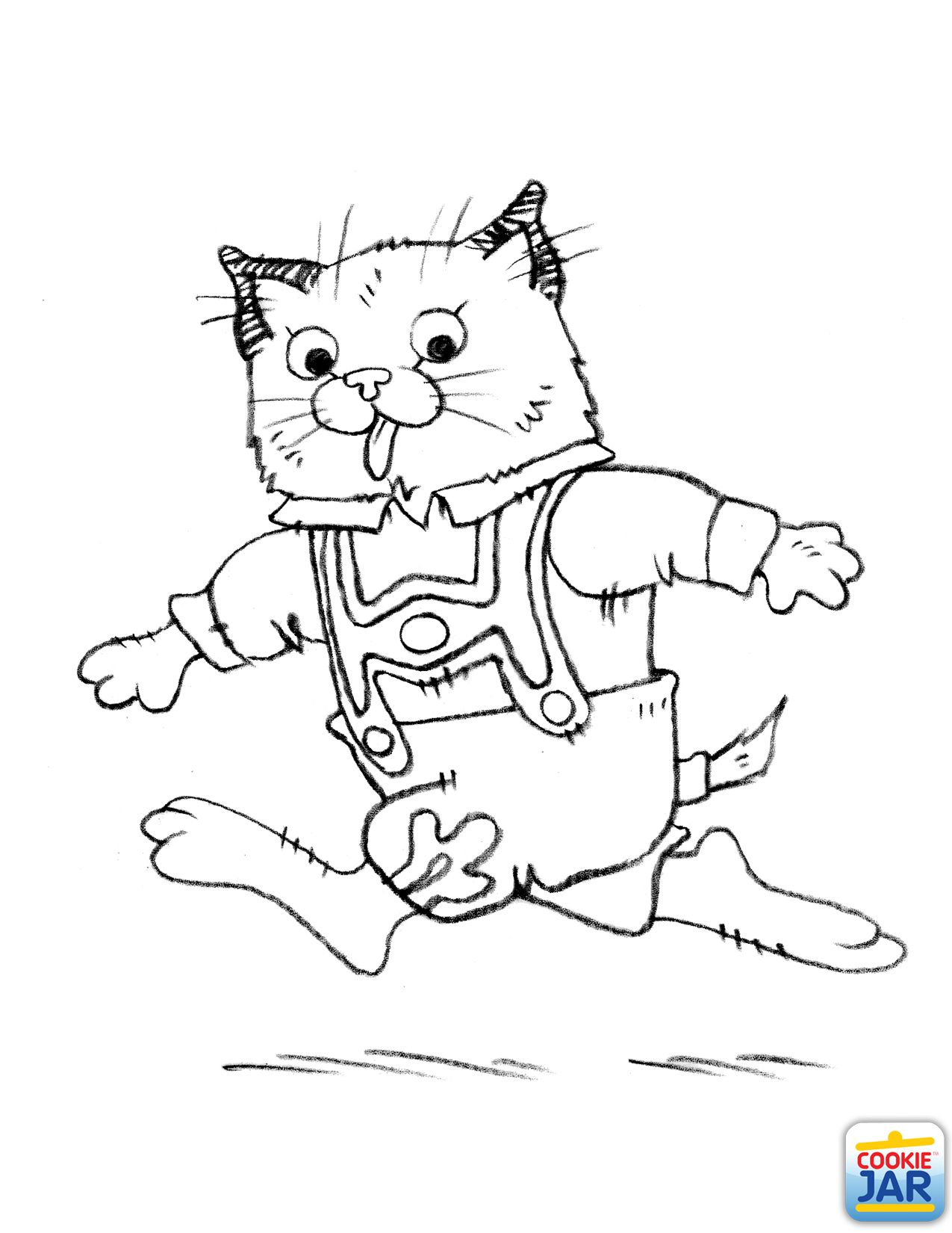 Huckle Cat Richard Scarry If I Ever Got A Tattoo Richard Scarry Halloween Coloring Pages Halloween Coloring