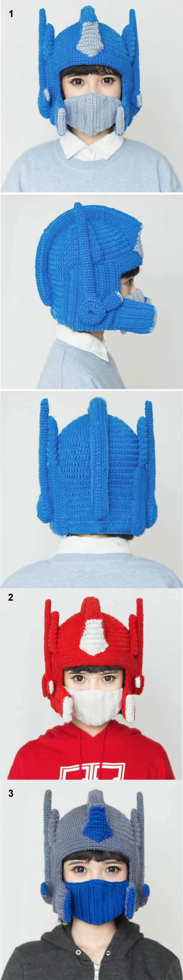 Optimus Prime Crochet Hat Clothing Accessorieshat Pinterest