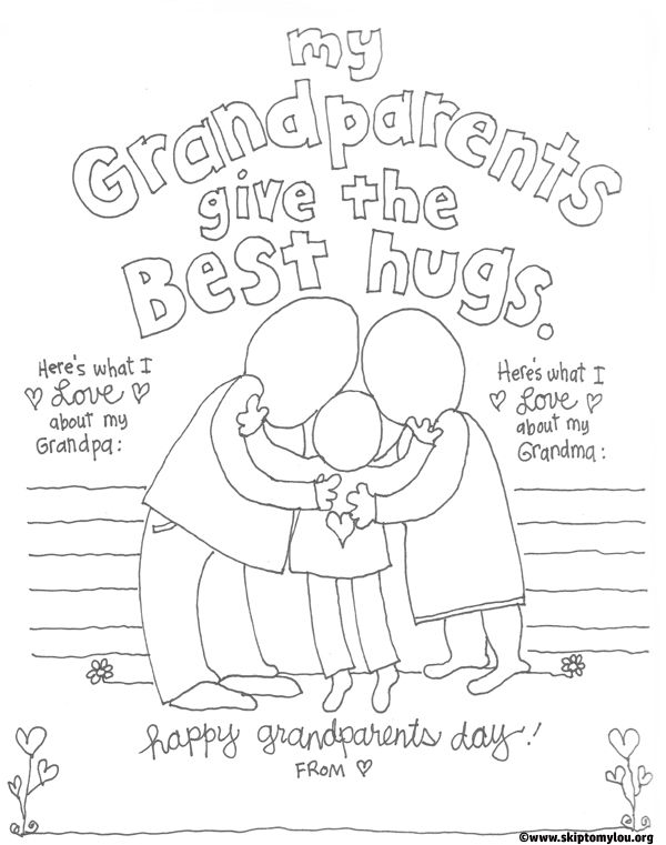 Free coloring pages for grandparents day ~ The CUTEST Grandparents Day Coloring Pages | Grandparents ...