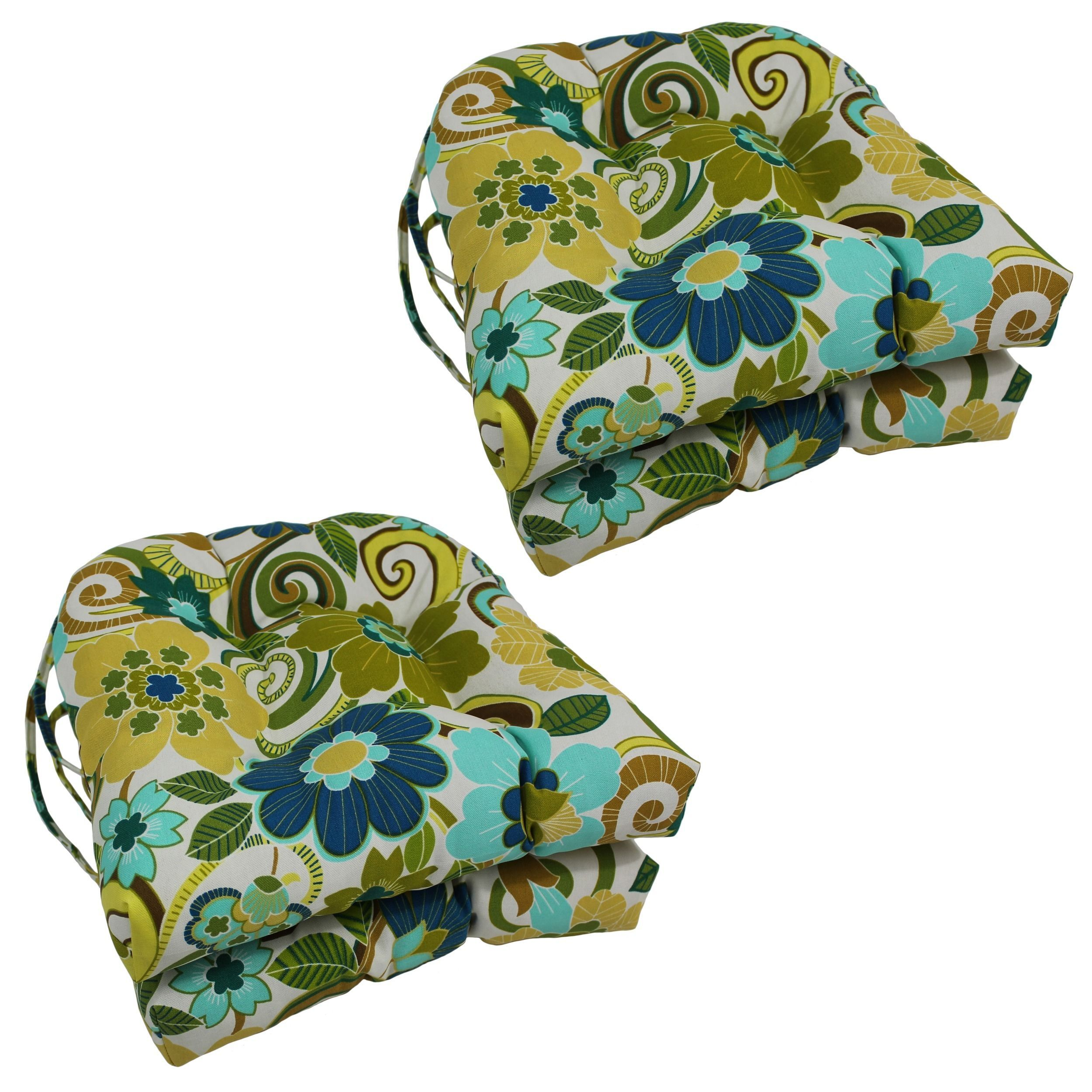 Excellent Blazing Needles Floral Stripe U Shaped 16 Inch Outdoor Caraccident5 Cool Chair Designs And Ideas Caraccident5Info