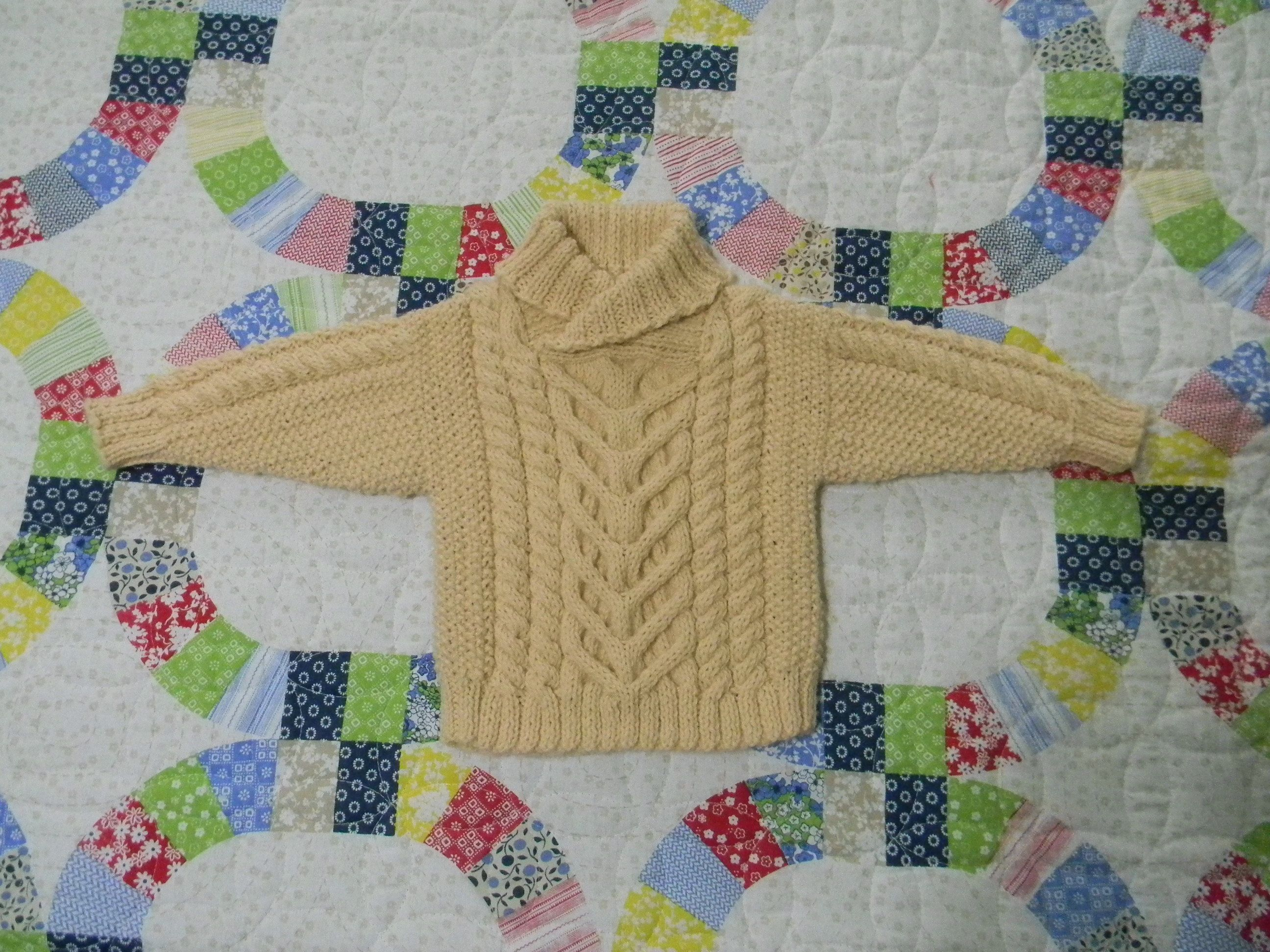 From 60 Baby Knits but I made a few changes to suit my style of knitting.