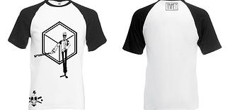 """Tee-shirt Baseball Killer Création originale de Jidu, sérigraphie réalisé par l'Atelier """"T'as pas vu mon éléphant?"""" Site de créations fait main et d'illustrations. www.tpvme.com"""