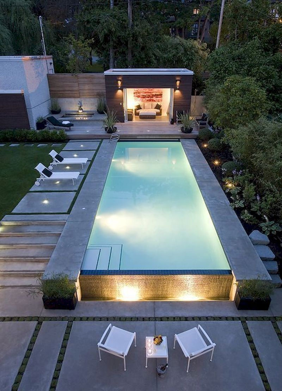 35 Modern Pool Deck Designs for Your Backyard | Backyard ... on Modern Backyard Ideas With Pool id=28444