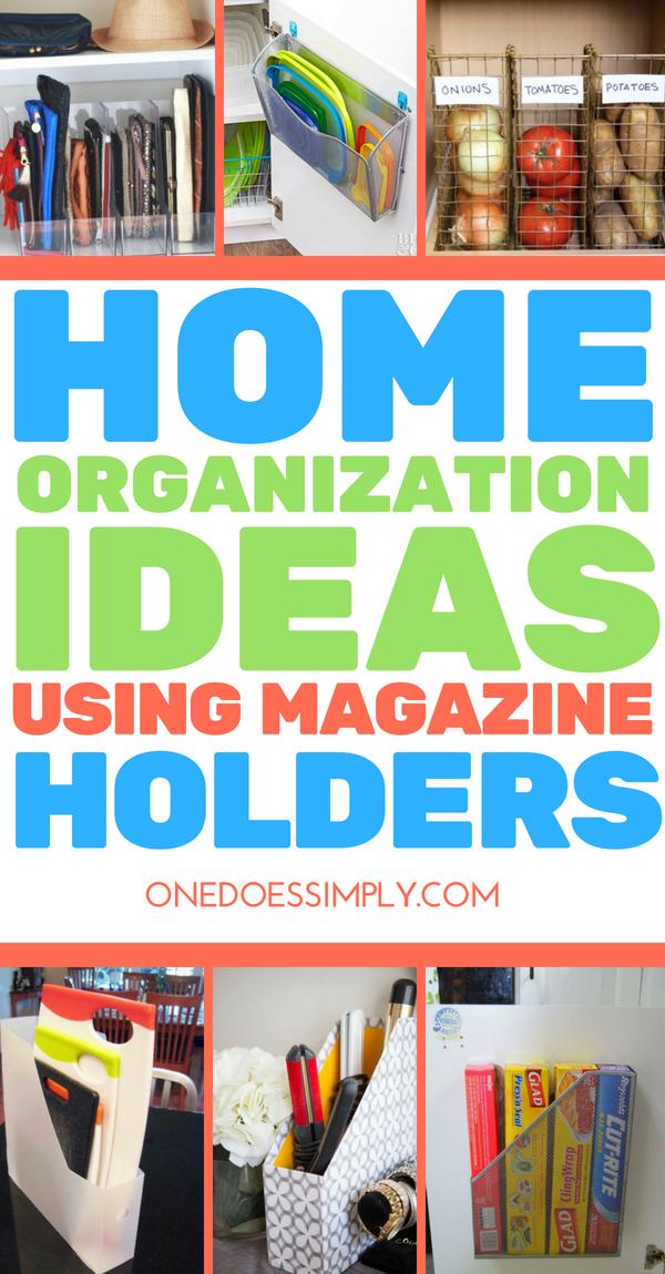 15 Home Organization Hacks Using Magazine Holder  organize  Pinterest  Orden en casa