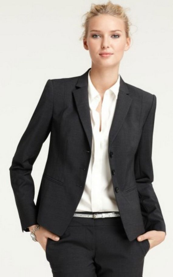 Black Suits for Women women's suit, interview fashion | interview ...