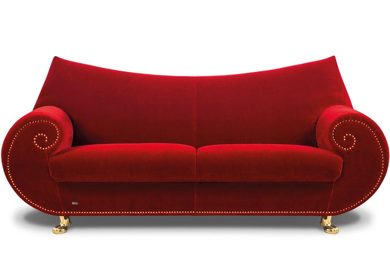 Sofa Gaudi 213cm Purpurrot | Antoni gaudi