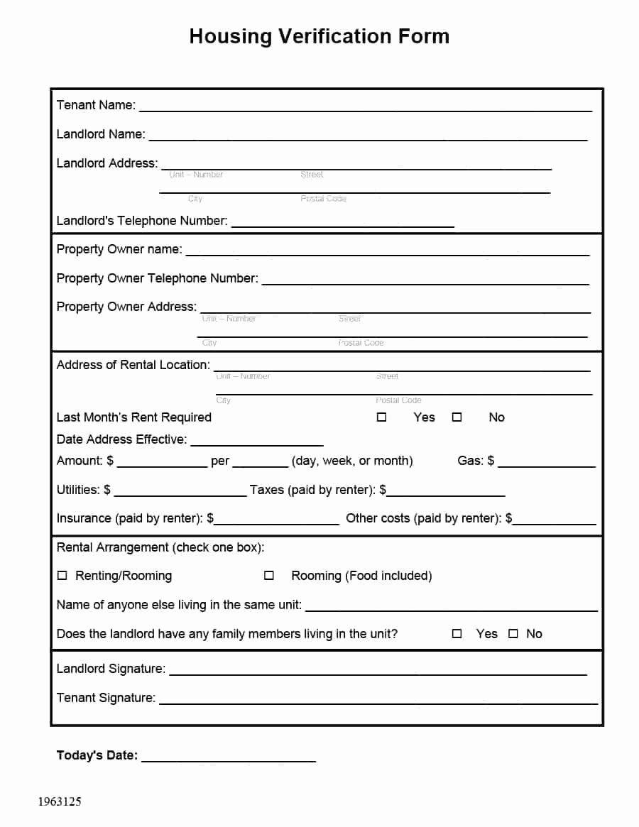 30 Landlord Verification Form Template In 2020 Being A