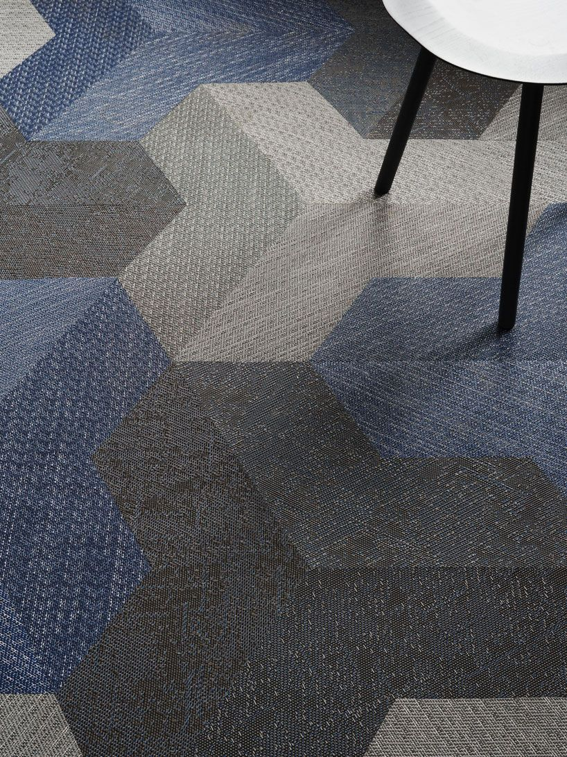 Wing Carpet Tile By Bolon Studio Facilitates New Dimensions For Interior Design Environments