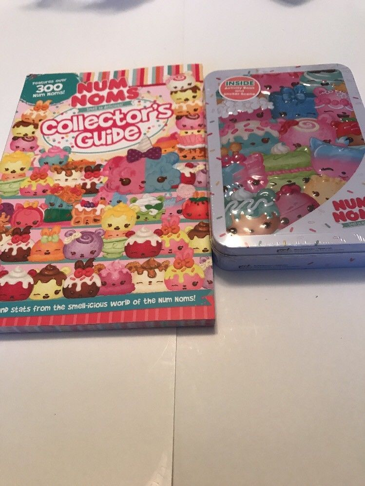 Num Noms Collectors Guide Soft Cover Book And Activity Kit Set NEW