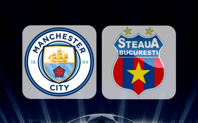 Manchester City Vs Steaua Bucharest Uefa Champions League Play Off Match