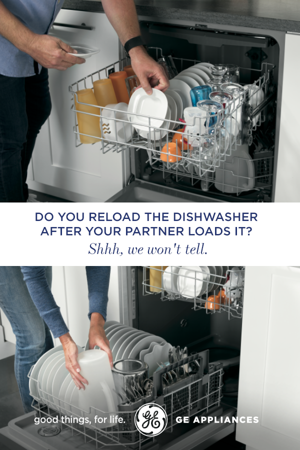 Do You Reload The Dishwasher After Your Partner Loads It Shhh We Won T Tell Portable Dishwashers Dishwasher Cleaning Hacks
