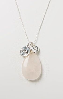 Rose Quartz Love Well Being Pendant Necklace