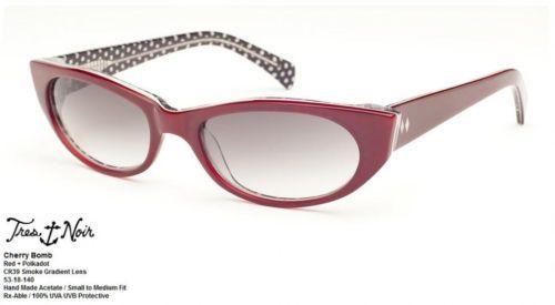 de00d7d55b7d Tres Noir Sunglasses Cherry Bomb Red with Polka Dot Pinup Super Cute  Handmade Rockabilly Outfits,