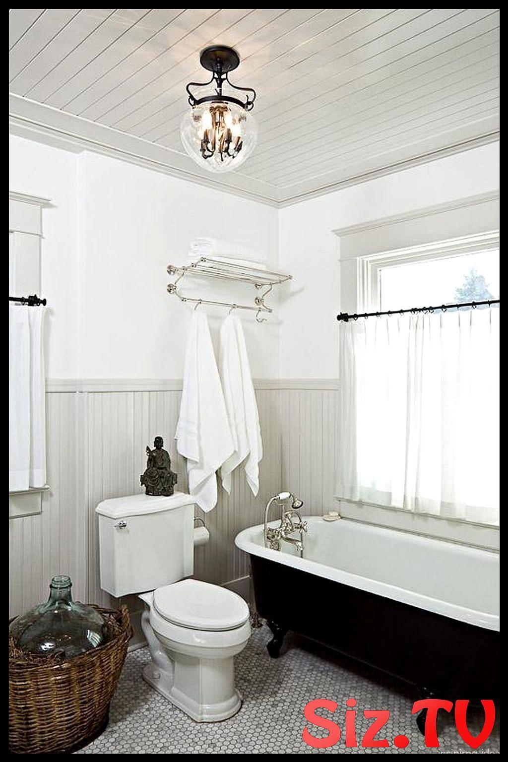 Beadboard Ceiling Black Bathtub Beadboard Ceiling Black Bathtub Beadboard Ceiling Black Bathtub Beadboa Classic Bathroom Bathrooms Remodel Traditional Bathroom