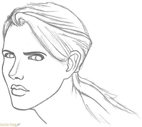how to draw a face from 3 4 view dibujos pinterest female