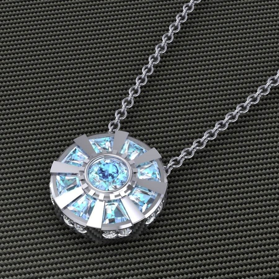 Arc reactor necklace all of the fandoms pinterest cosas arc reactor necklace aloadofball Image collections