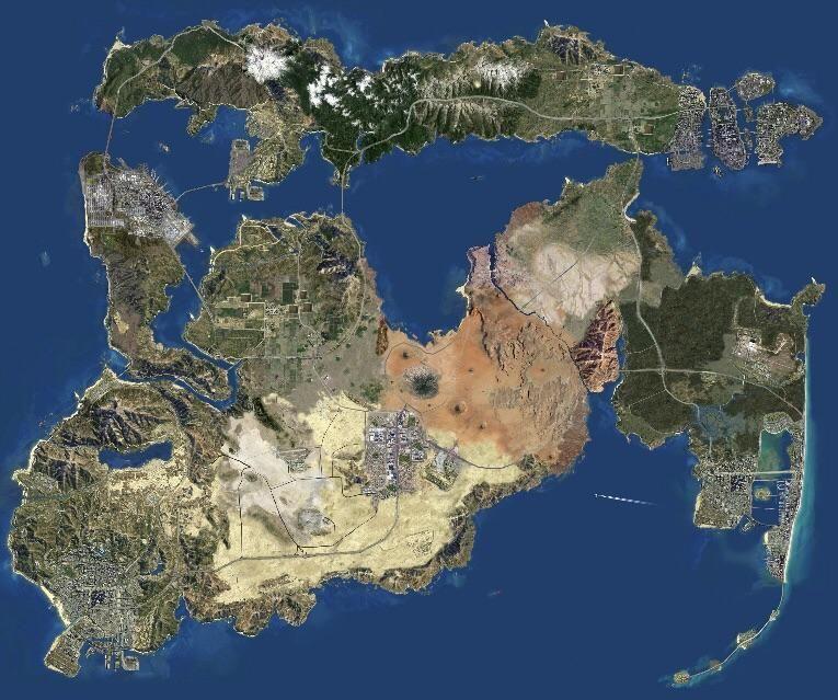 Grand Theft Auto Map Expansion Concept Gta Gta Vi Gta City
