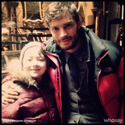 Jamie Dornan ∞ @JamieDornan4eva 2m Cute <33 RT @JamieDornan_org: So cute right? Jamie on the set of OUAT 2X17. Graham and little Owen
