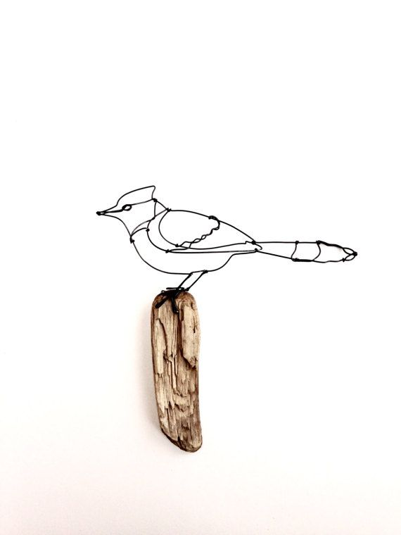 Hanging Pictures On Wire blue jay wire sculpture wall hanging. rustic homedefildefer