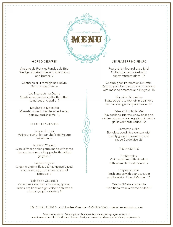 french bistro menu template cancel | paris | pinterest | menu