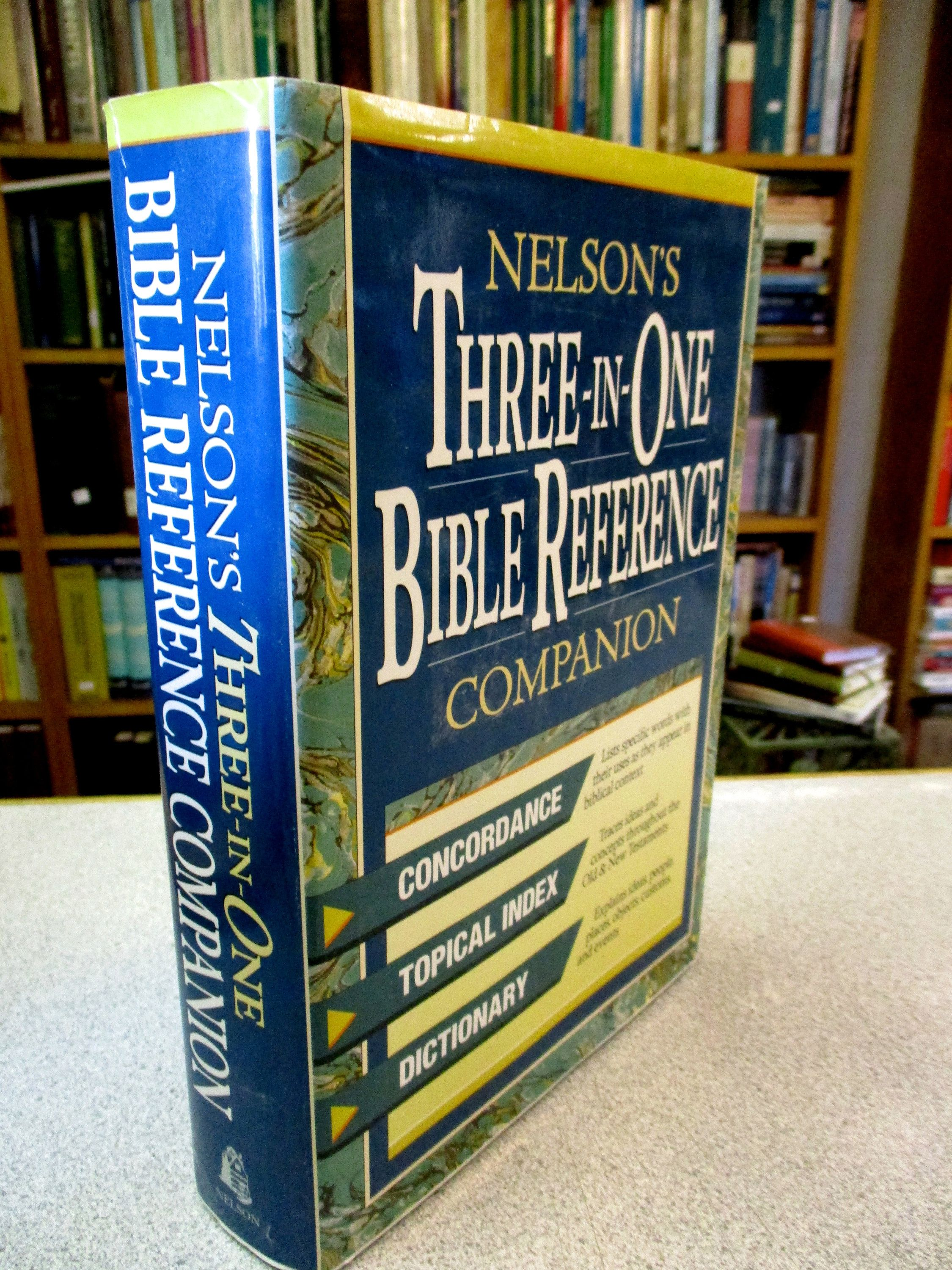 Nelson S Bible Reference Companion Bible Concordance Topical Index