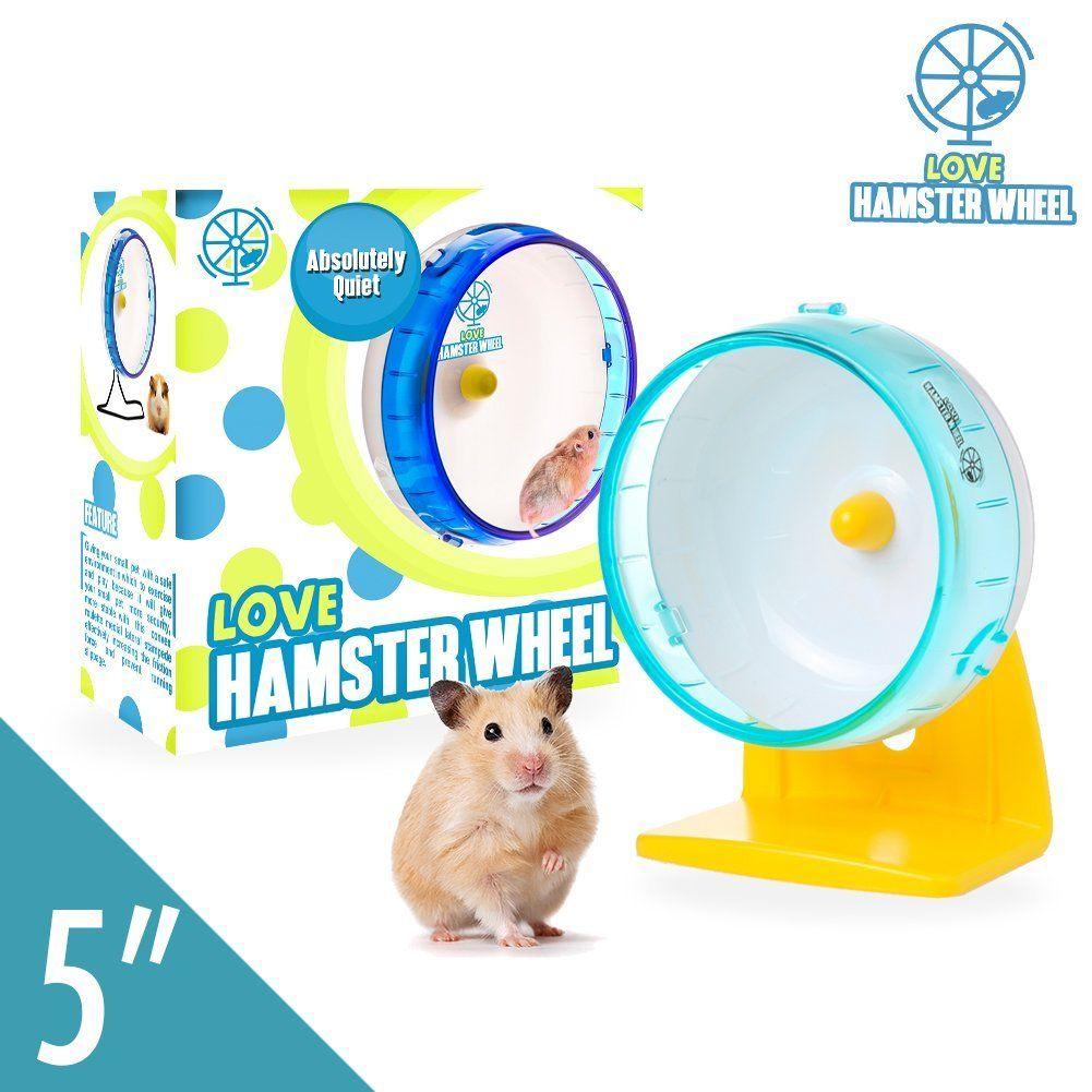 "AmazonSmile Dwarf Hamster Wheel 5"" Pet Quiet Spinner"