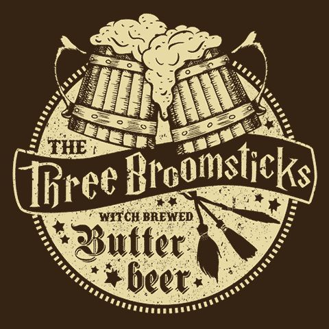 Harry Potter Butterbeer Logo The Three Broomsticks ...