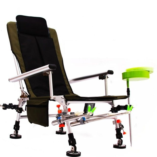 Brilliant Fishing Chair Adjustable Reclining Padded Back Foldable Inzonedesignstudio Interior Chair Design Inzonedesignstudiocom